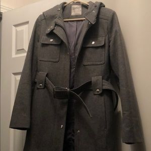 fdf9f7dca6a Esprit Jackets   Coats - Esprit Wool Jacket with Faux Fur Hood Attachment
